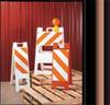 Folding Barricade,Orange -- 3LWY7