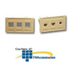 ICC 3-Port Modular Furniture Faceplate -- IC107FM3