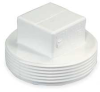Clean Out Plug,6 In,MPT,PVC -- 1WKW5 - Image