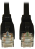 Augmented Cat6 (Cat6a) Snagless 10G Certified Patch Cable, (RJ45 M/M) - Black, 25-ft. -- N261-025-BK - Image
