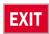Safety Warning Sign Aluminum Exit -- 75447341052-1