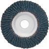 Merit ZA Coarse Center Mount Aluminum Conical Flap Disc -- 08834193424 - Image