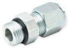 Straight Thread Connector,1/4 In -- 1DCV8