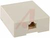 Jack; RJ45 Keyed Surface Mount Box; 4; Plastic; Ivory -- 70081177