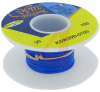 Wire; 100ft 30AWG silver plated copper;blue Kynar insulated; low strip force -- 70176433