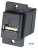 USB (Type A-Type B) Panel-Mount Coupler, Black -- FMT1050