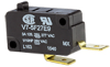 MICRO SWITCH V7 Series Miniature Basic Switch, Single Pole Normally Open Circuitry, 3 A at 250 Vac, Pin Plunger Actuator, 0,08 N - 0,18 N [0.3 oz - 0.6 oz] Maximum Operating Force, Silver Contacts, Qu -- V7-5F27E9 -Image