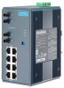 8+2 100FX Unmanaged Switch with ST Fiber Ports and Wide Temp Support -- EKI-7529MI -Image