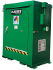 Justrite Agri-Turf 100 cubic ft Green Hazardous Material Storage Cabinet - 54 in Width - 59 in Height - Floor Standing - 697841-15884 -- 697841-15884
