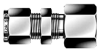 Dk-Lok® Bulkhead Female Connector -- DCBF 2-2N - Image