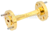 WR-15 45 Degree Waveguide Left-hand Twist Using a UG-385/U Flange And a 50 GHz to 75 GHz Frequency Range -- SMW15TW1002 - Image