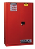 Justrite Sure-Grip EX 96 gal Red Hazardous Material Storage Cabinet - 34 in Width - 65 in Height - 697841-11444 -- 697841-11444 -Image