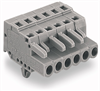 Female connector; with snap-in mounting foot; 3-pole -- 231-103/008-000