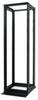 45U 4 Post BLACK Aluminum Relay/Open Rack -- CLM-2252-45B