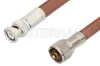 UHF Male to BNC Male Cable 48 Inch Length Using RG393 Coax, RoHS -- PE34585LF-48 -Image