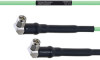 Temperature Conditioned Low Loss RA SMA Male to RA SMA Male Cable LL160 Coax in 8 Inch -- FMHR0197-8 -Image