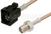 SMA Female to Black FAKRA Jack Cable 36 Inch Length Using RG316 Coax -- PE39351A-36 -Image