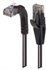 Category 6 LSZH Right Angle Patch Cable, Straight/Right Angle Up, Black, 25.0 ft -- TRD695ZRA2BLK-25 -Image