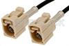 Beige FAKRA Jack to FAKRA Jack Cable 48 Inch Length Using PE-C100-LSZH Coax -- PE38746I-48 -Image
