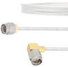 SMA Male to RA SMA Male Cable FM-SR086TB Coax in 12 Inch -- FMCA2105-12 -Image