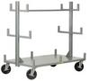 All-Welded Portable Bar & Pipe Truck -- HBRT-3648-8PHBK -Image