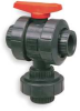 Ball Valve,Three Way,Threaded,3/4 In,PVC -- 1RLC7