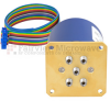SP4T Latching 0.05 dB Low Insertion Loss Repeatability DC to 40 GHz Terminated Relay Switch, Indicators, Self Cut Off, TTL, 5W, 24V, 2.92mm -- FMSW6342 - Image