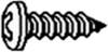 """SCREW SELF TAPPING PAN HEAD 8 X 1/2"""" -- IBI526913"""