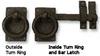 Ring Turn Bar Latch, Solid Bronze -- 850066