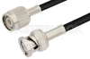 TNC Male to BNC Male Cable 12 Inch Length Using PE-C200 Coax -- PE36068-12 -Image