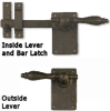Lever Bar Latch, Solid Bronze -- 850076