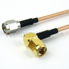SMA Male to RA SMA Male Cable RG316-DS Coax in 60 Inch -- FMC0204317-60 -Image