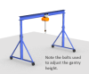 Adjustable Height Steel Gantry Crane -- AG-1-10/12-10 - Image