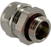 Cable Gland; Nickel-Plated Brass; 6.5 to 9.5 mm; 2.5 to 8.5 mm; PG 9; 20 mm -- 70075240 - Image