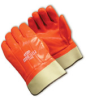 Hi-Vis Smooth Coated Orange PVC, Safety Cuff, Foam Insulated, Men's -- 616314-06616