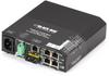 Hardened PoE PSE Switch (5)10BaseT/100BaseTX RJ45 (1)SingleMode SC -- LPH240A-H-SSC