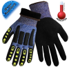 Global Glove Vise Gripster Blue/Black Large HDPE Cold Condition Gloves - Latex Foam Full Coverage Except Cuff Coating - Terry Insulation - CIA317INT LG -- CIA317INT LG
