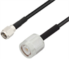 Low Loss SMA Male to TNC Male Cable Assembly using LMR-100 Coax, 1 FT with Times Microwave Components -- LCCA30224-FT1 -Image