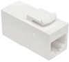 Cat6a Straight-Through Modular In-Line Snap-In Coupler with 90-Degree Down-Angled Port, White (RJ45 F/F) -- N235-001-WH-6AD