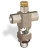 "(Formerly B1629-3X00), Cross Small Sight Feed Valve, 1/8"" Female NPT Inlet, 1/8"" Male NPT Outlet, Handwheel -- B1628-212B1HW -- View Larger Image"