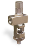 "Angle Heavy Duty Sight Feed Valve, Solid Gasket, 1/4"" Female NPT Inlet, 1/4"" Male NPT Outlet, Tamperproof -- B1284-4-SG -Image"