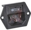 POWER ENTRY MODULE, 1U HEIGHT POWER, 15A, PRE-CONNECTED TERMINALS, 2 MOUNT HOLES -- 70185957