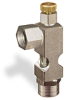 """(Formerly B1628-7X00), Angle Small Sight Feed Valve, 1/4"""" Female NPT Inlet, 1/4"""" Female NPT Outlet, Handwheel -- B1628-133B1HW -- View Larger Image"""