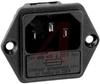 Fuseholder; 250 VAC; 5 x 20 mm; 6 mm (Max.); Panel Mount; -25 to degC -- 70080632 - Image