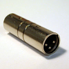 3-Pin XLR Male to Male Adapter -- HAVXLRMXLRM - Image