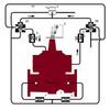 Dual Chamber Valve with Mechanical Check -- M513-AK, M1513-AK