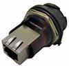 connector,plastic circular,jam nut recept,reverse bayonet,rj45 ethernet,black -- 70026547