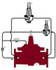 Pressure Reducing Control Valve with Low Flow By-Pass - Full Port -- M115-74, M1115-74