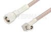 SMC Plug to SMC Plug Right Angle Cable 60 Inch Length Using RG316-DS Coax -- PE34518-60 -Image