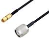 SSMC Plug to TNC Male Cable 48 Inch Length Using PE-SR405FLJ Coax -- PE3C4453-48 -Image